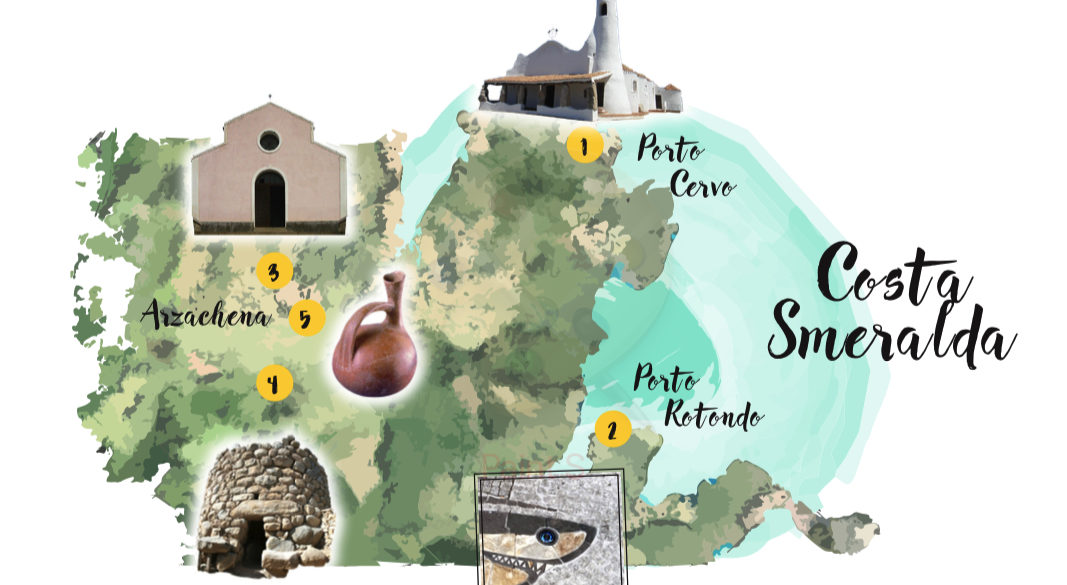 MAPPA COSTA SMERALDA MAP ATTRACTION