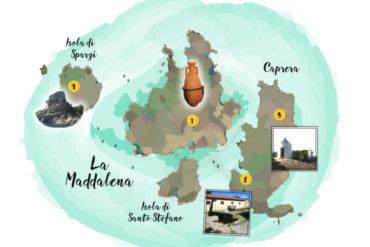 mappa attrazioni la maddalena