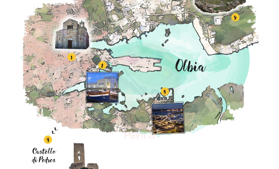 MAPPA OLBIA Attraction maps